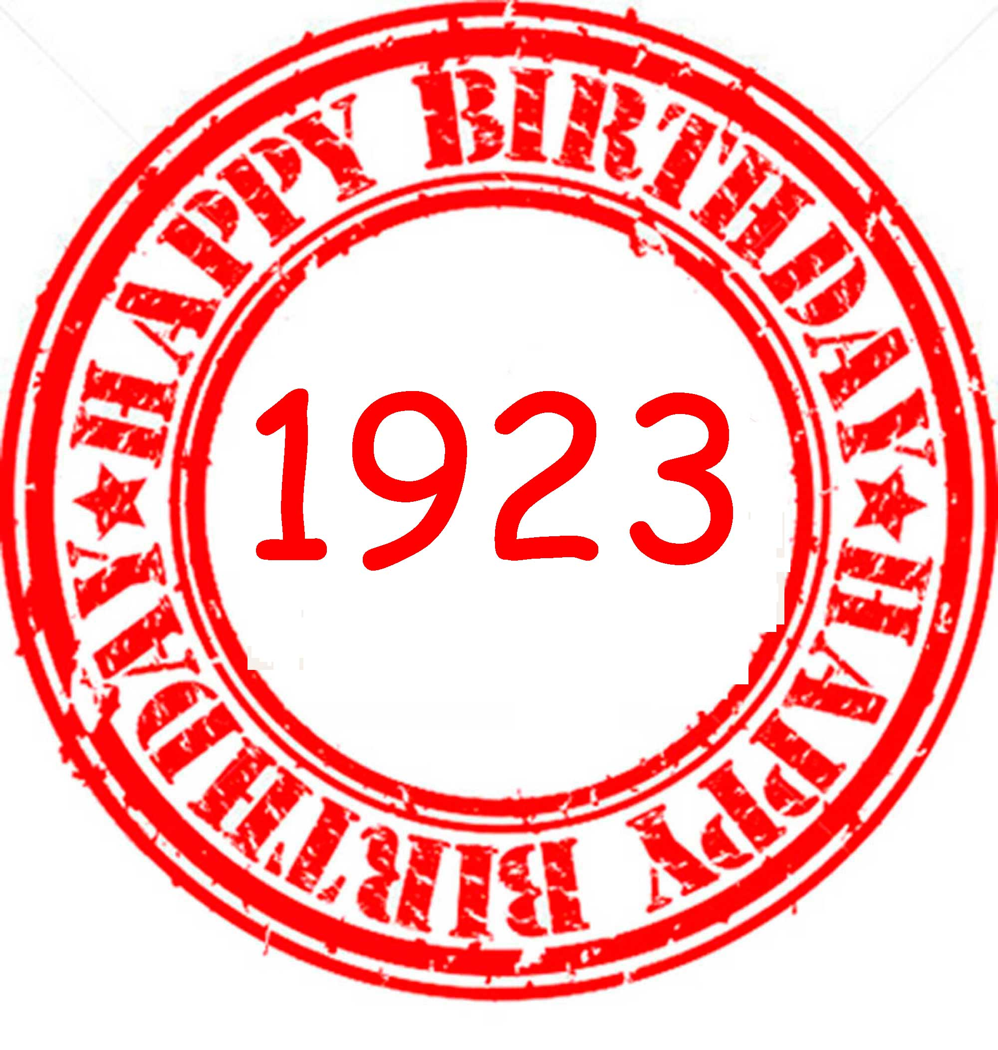 Happy Birthday 1923
