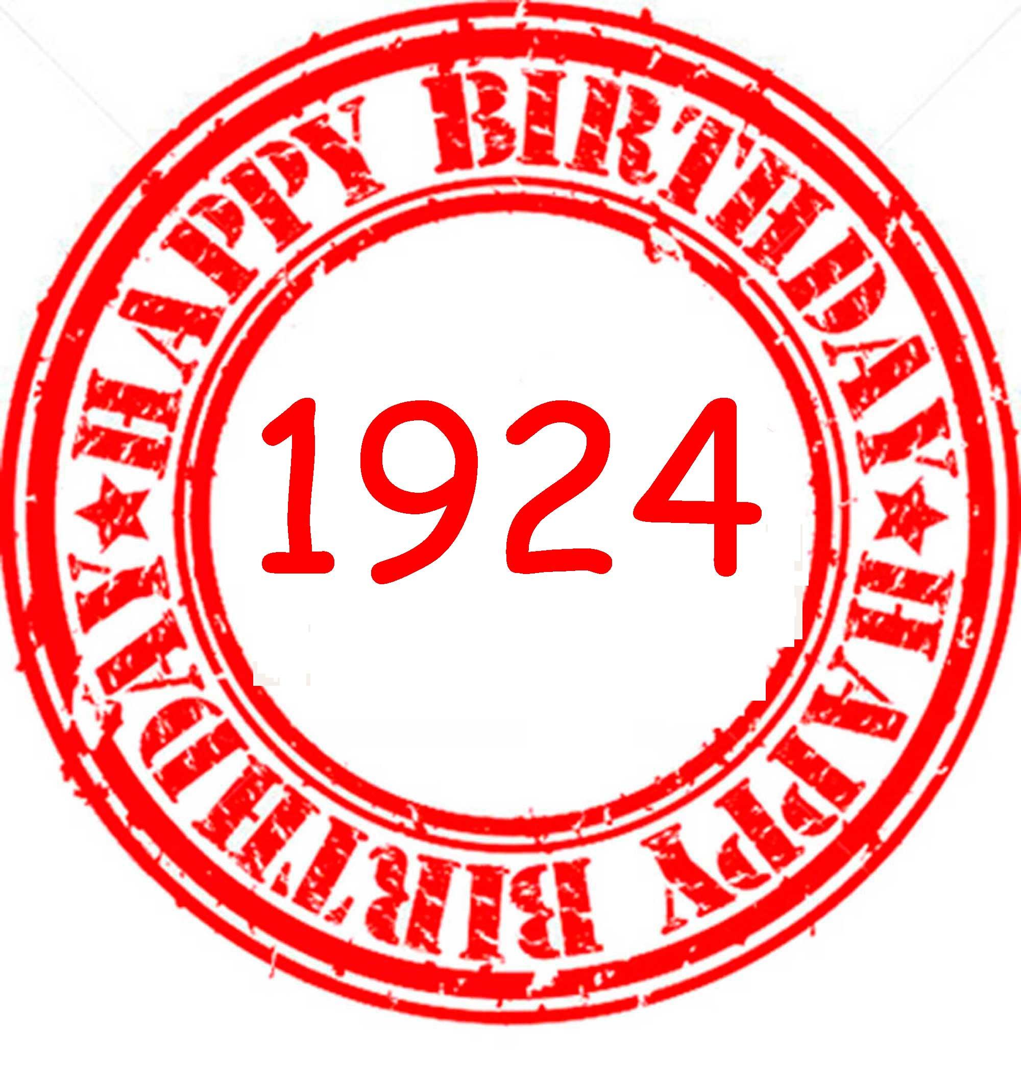 Happy Birthday 1924