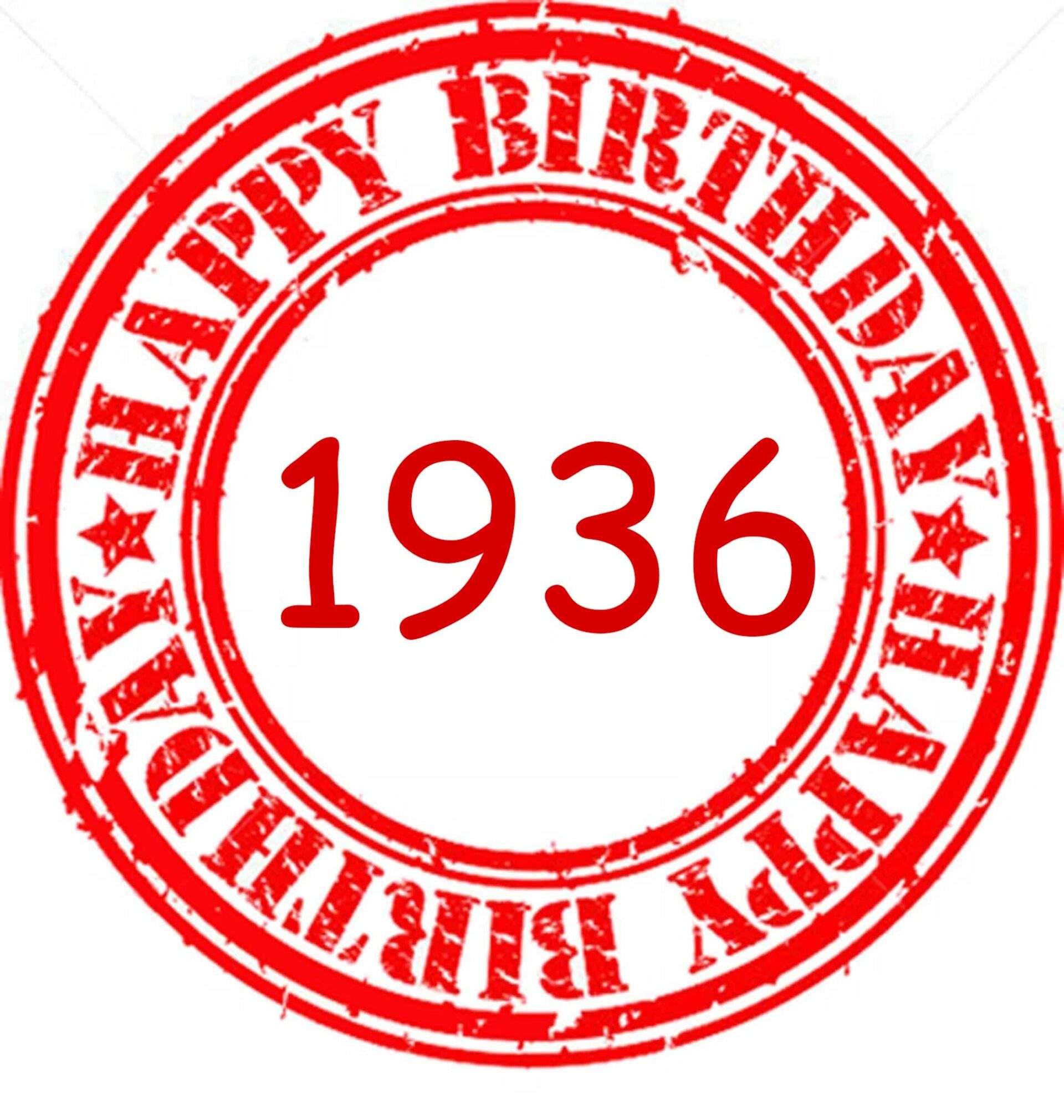 happy birthday 1936