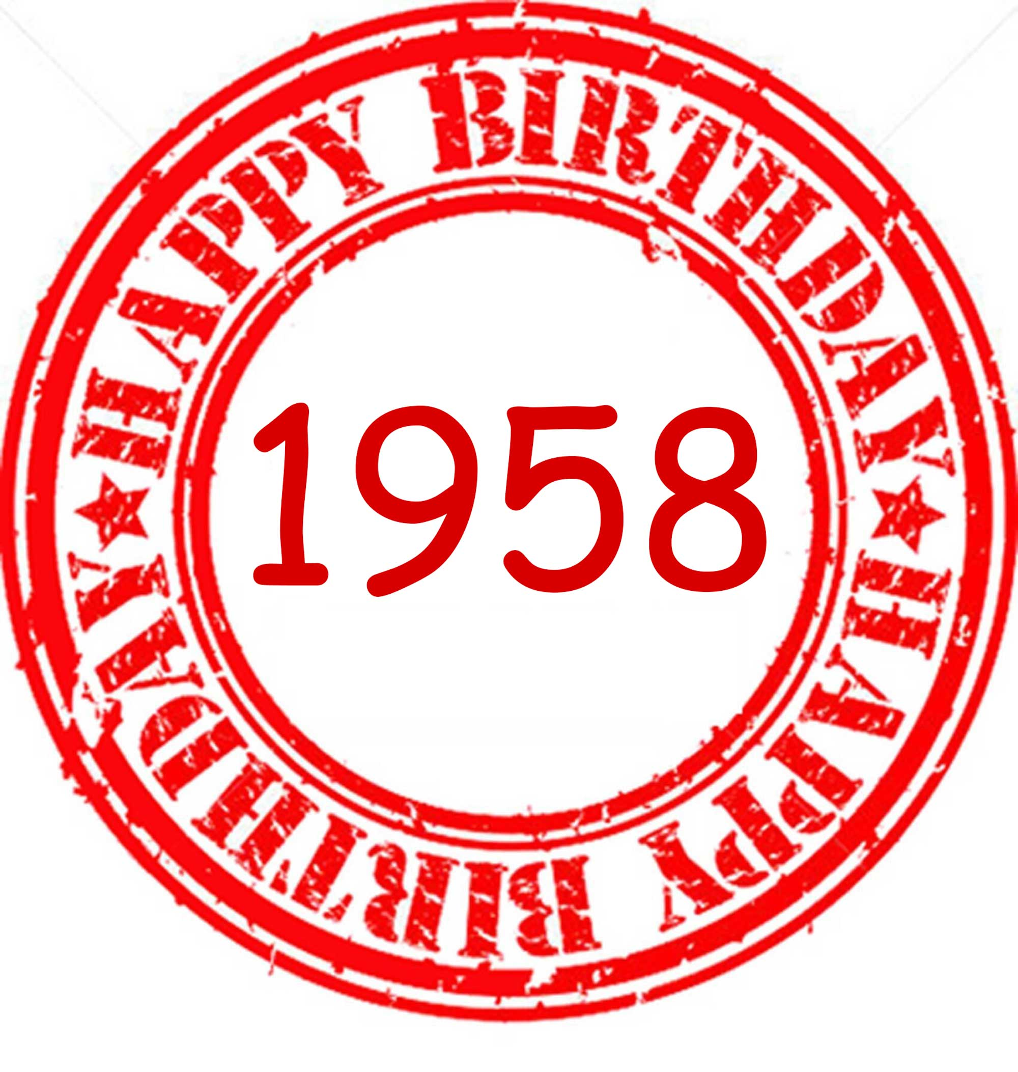 1958 HAPPY ANNIVERSARY