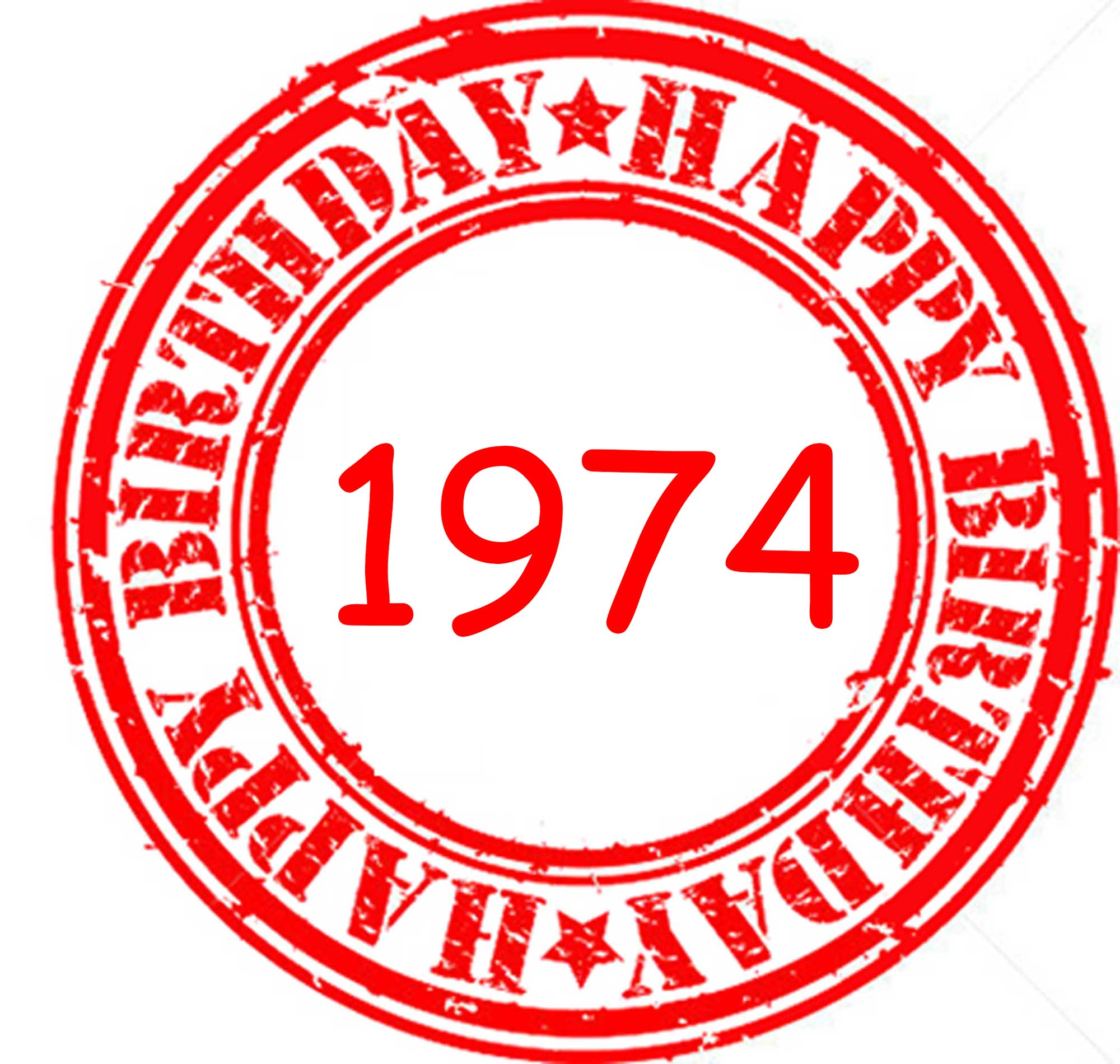 Happy Birthday 1974