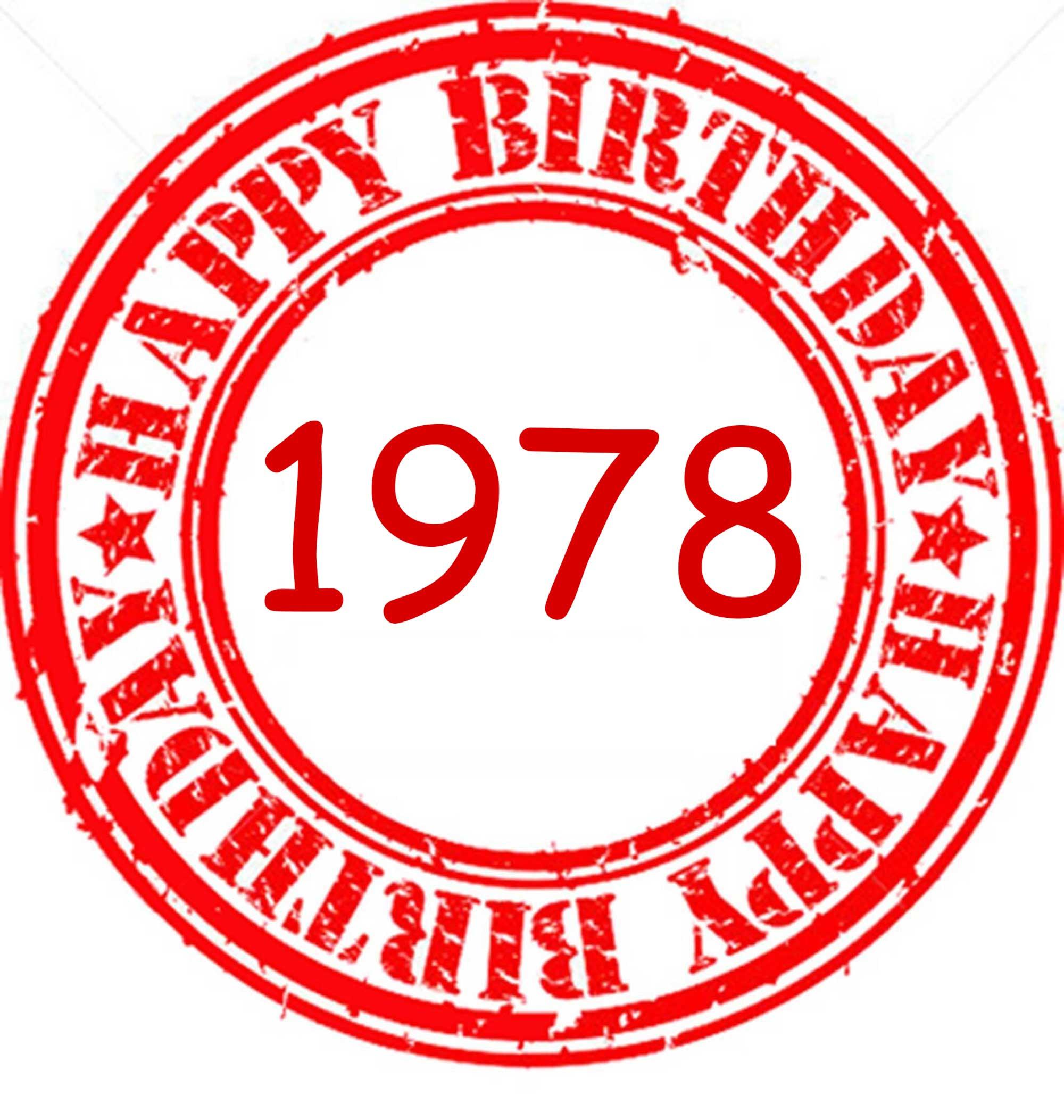 Happy Birthday 1978