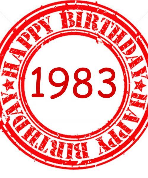 1983 regalo especial para los 40 años