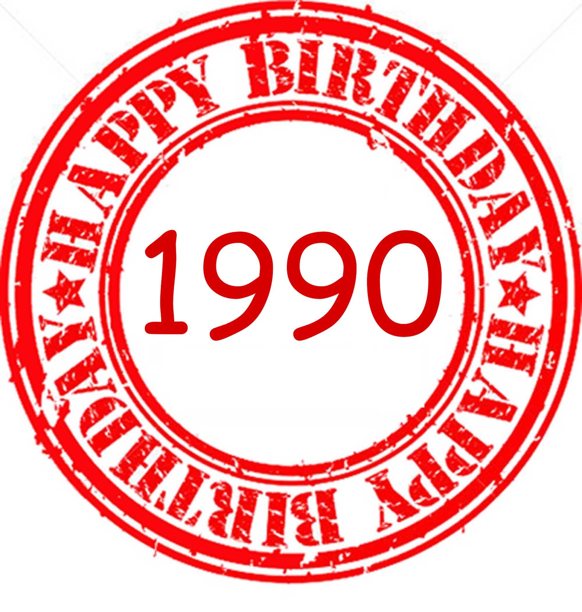 happy birthday 1990