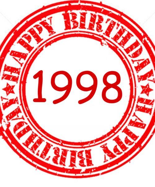 1998 detallitos para cumpleaños