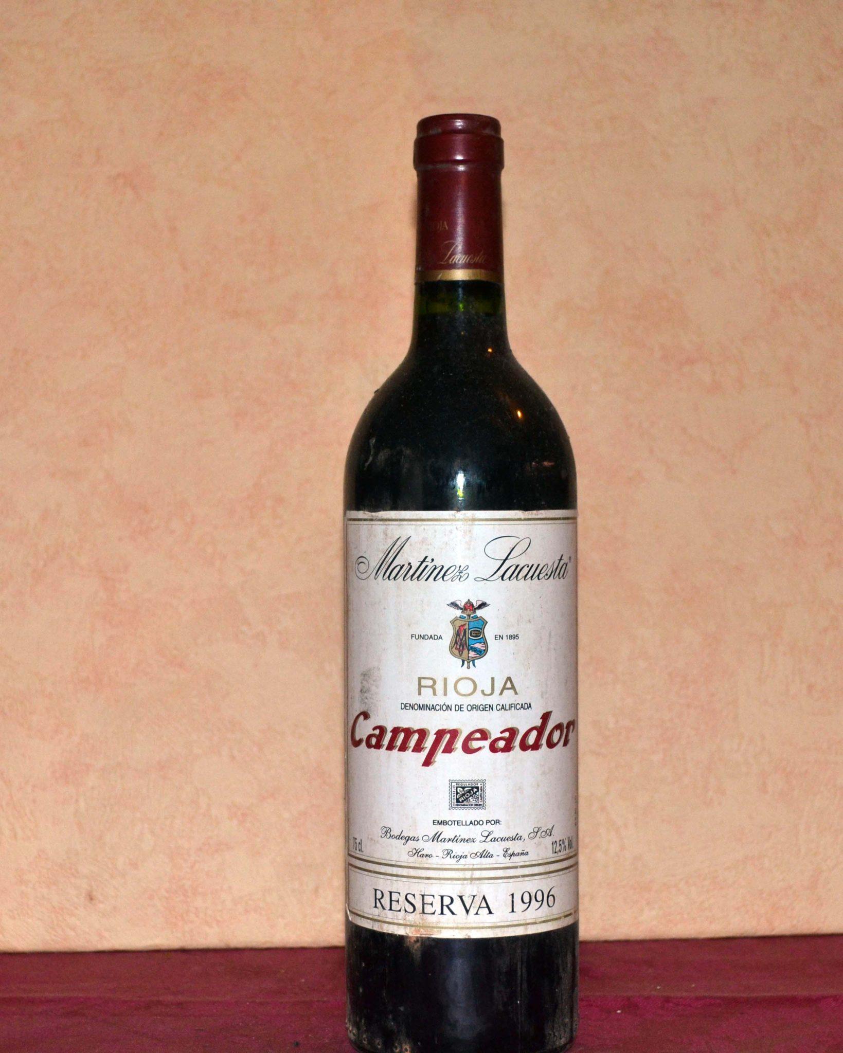 Rioja Champion Red Reserva 1996