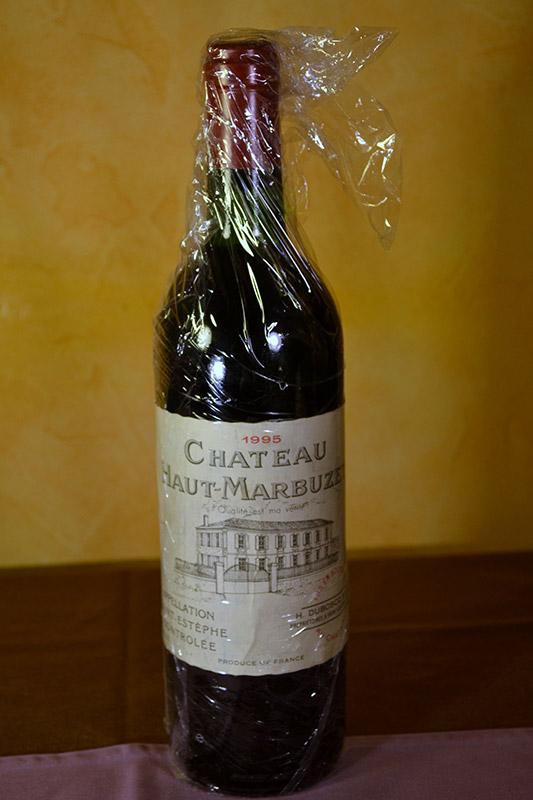 Chateau Haut Marbuze Saint Estephe 1995
