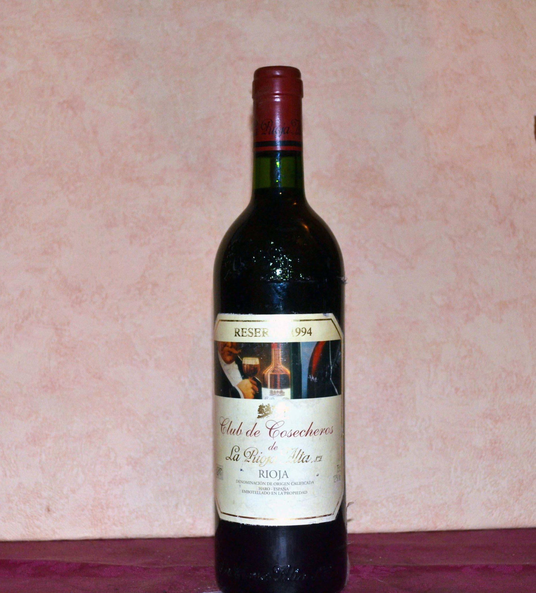 Club de Cosecheros Rioja Alta reserva 1994