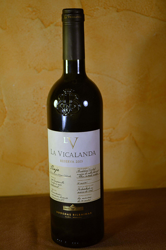 La Vicalanda Bilbainas Reserva 2003