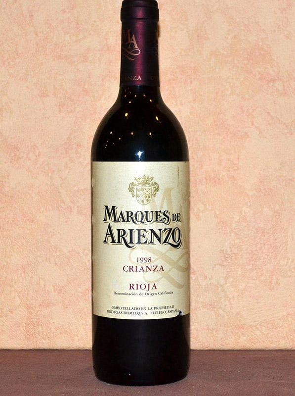 Marques de Arienzo Domecq Crianza 1998