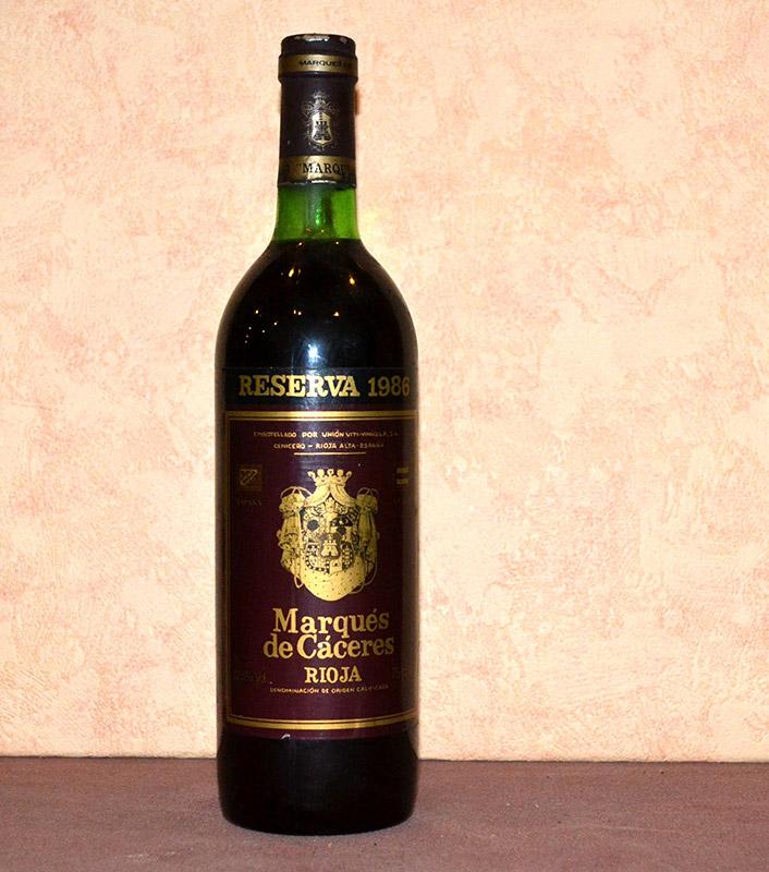 Marques de Caceres Reserve 1986
