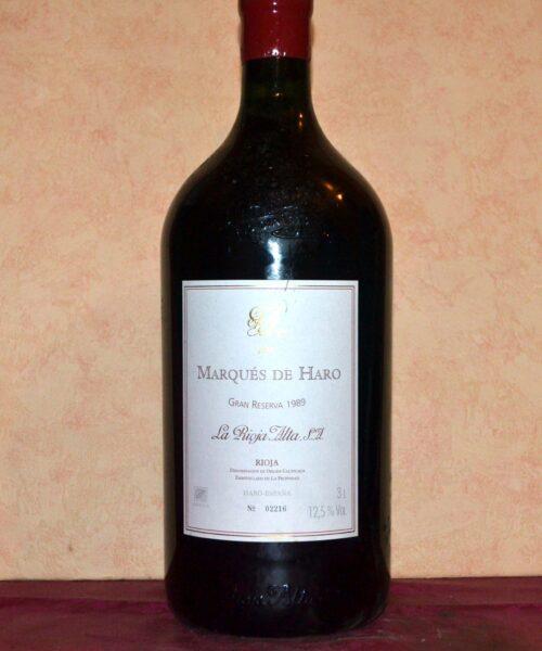 Marques de Haro Bodegas Rioja Alta 3 Litres 1989