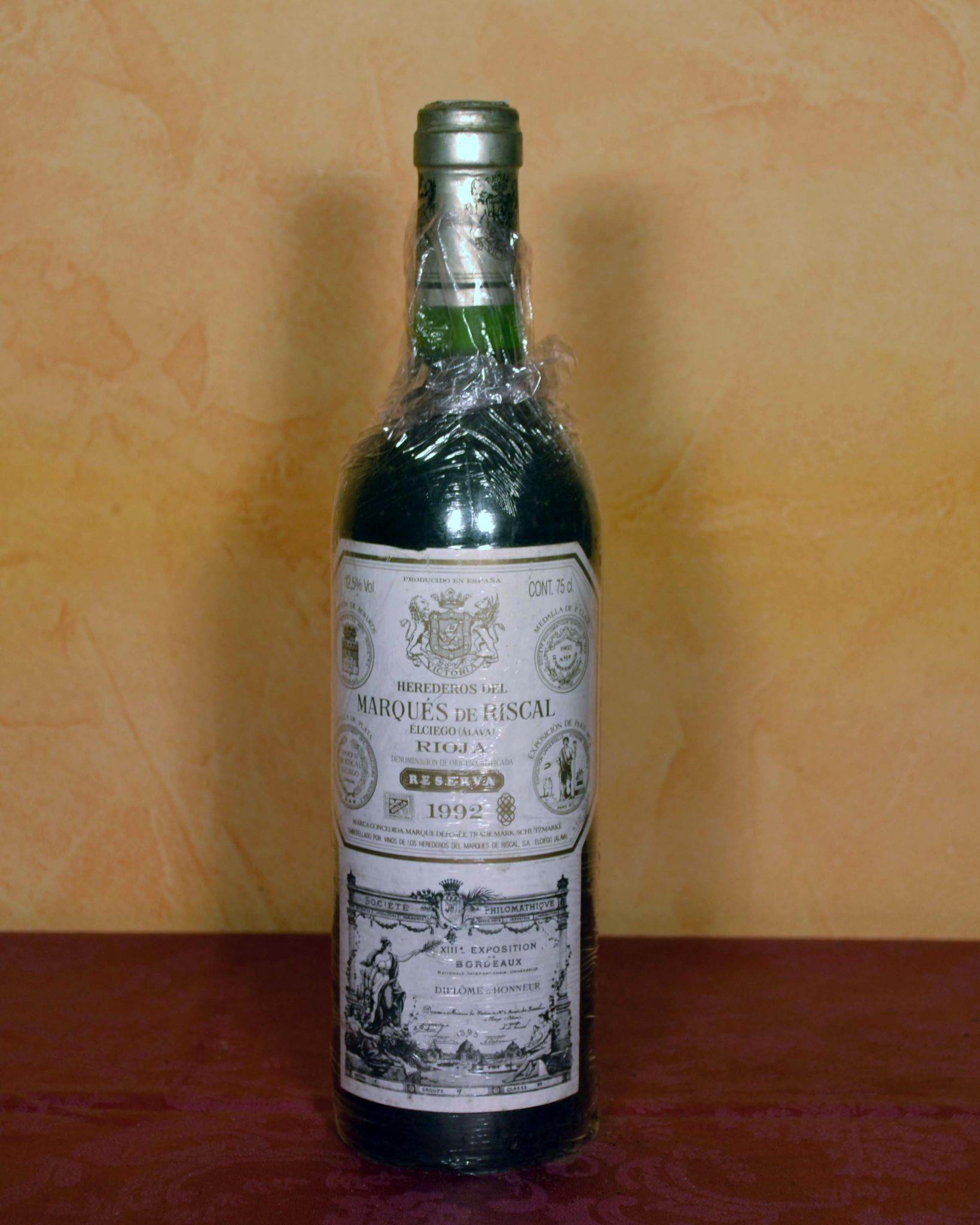 Marques de Riscal tinto reserva 1992