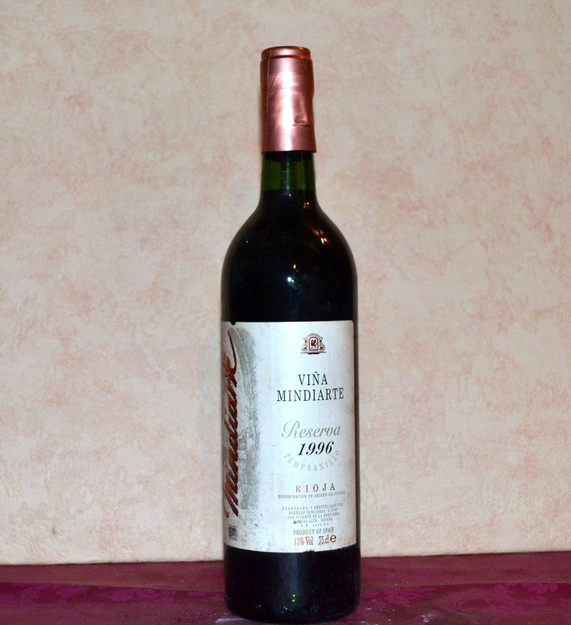 Mindiarte Sonsierra Reserve 1996