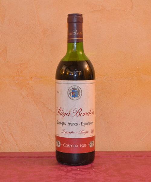 Rioja Bordón 1981