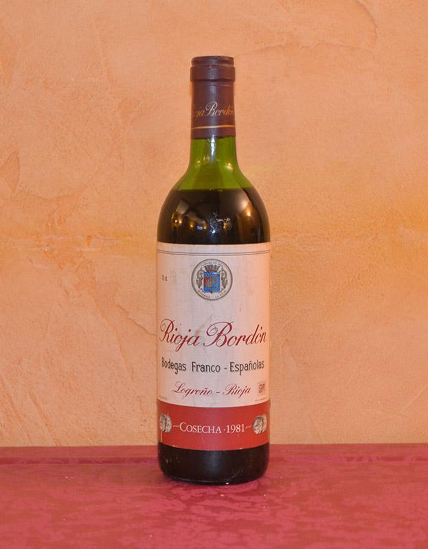 Rioja Bordón Añada 1981