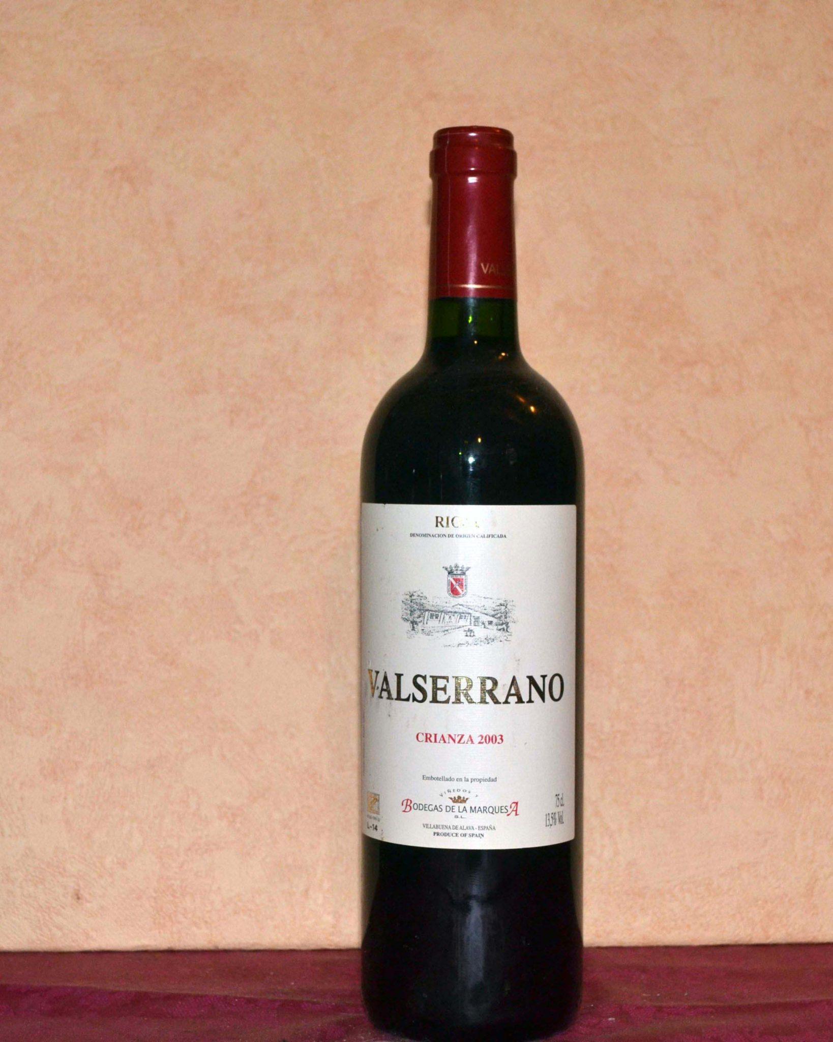 Valserrano red Crianza 2003