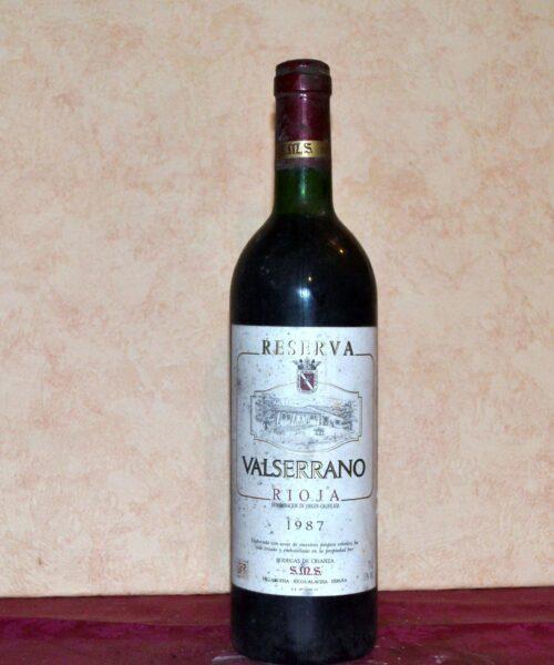 Valserrano tinto reserva 1987