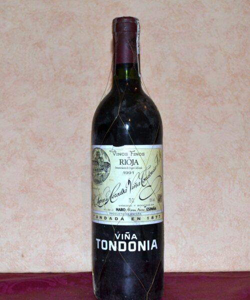 viña tondonia tinto reserva 1991 elaborado por lopez heredia es el regalo ideal de aniversario-cumpleaños o jubilacion a la venta en tuhistoria.es