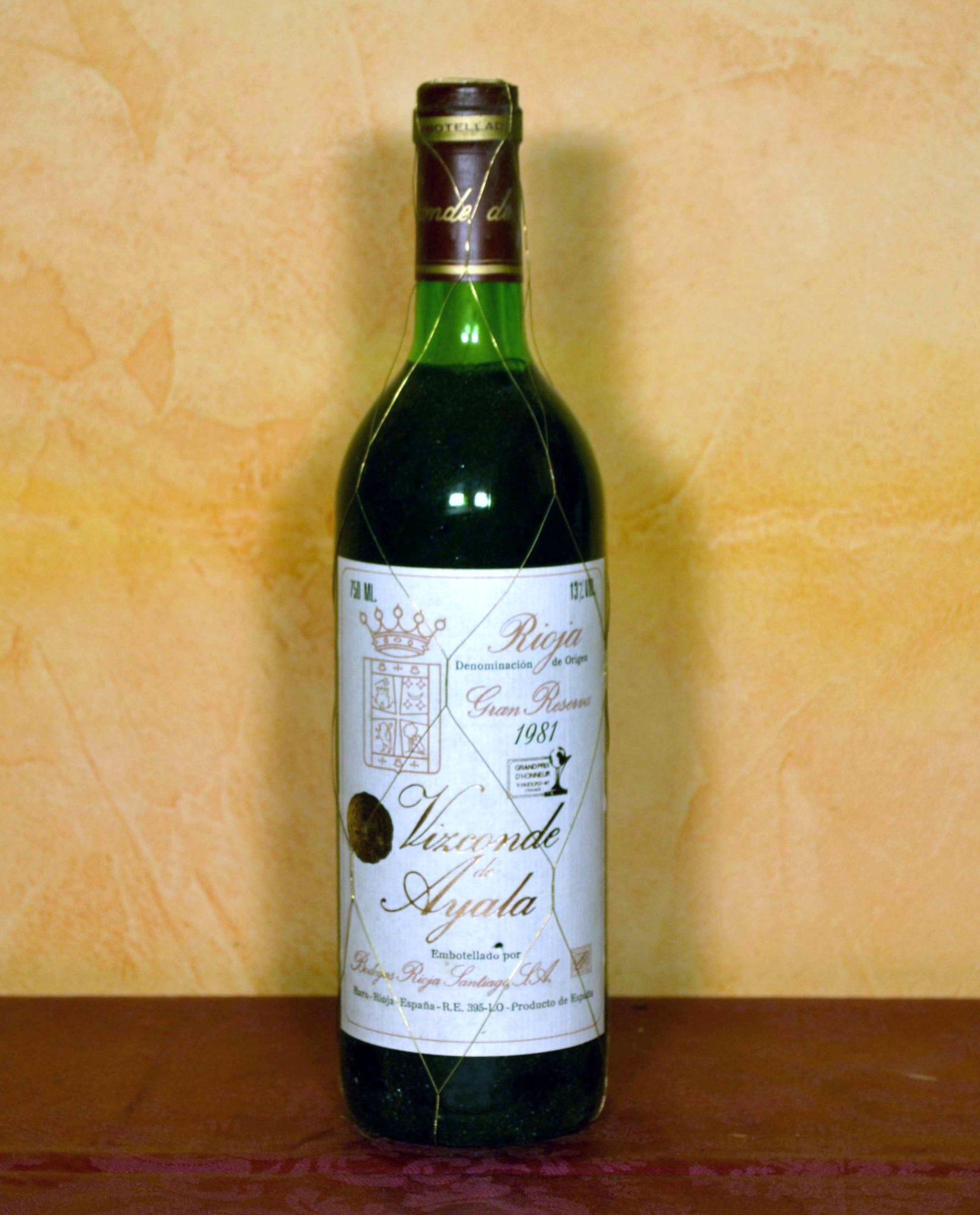 Viscount of Ayala Rioja Santiago Gran Reserva 1981