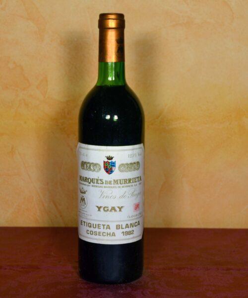 Marques de Murrieta 1982 Denomination Rioja Tuhistoria.es