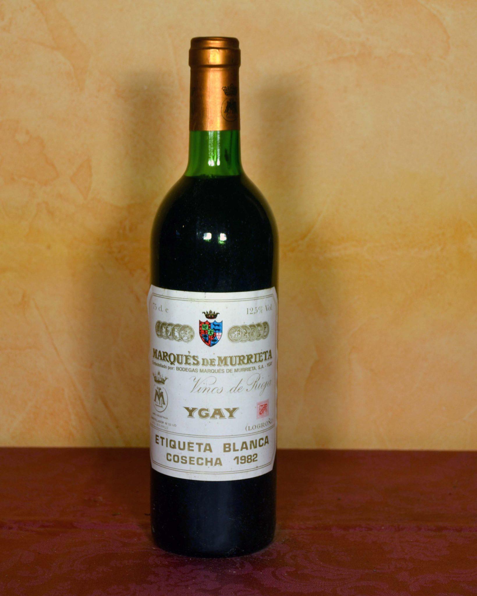 Marques de Murrieta 1982 Denominacion Rioja Tuhistoria.es