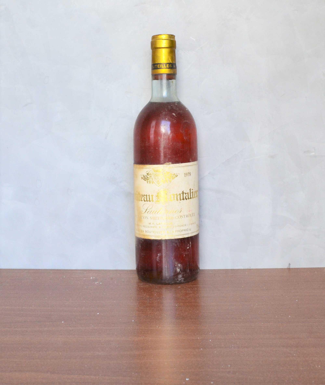 Château Montalier sauternes 1978