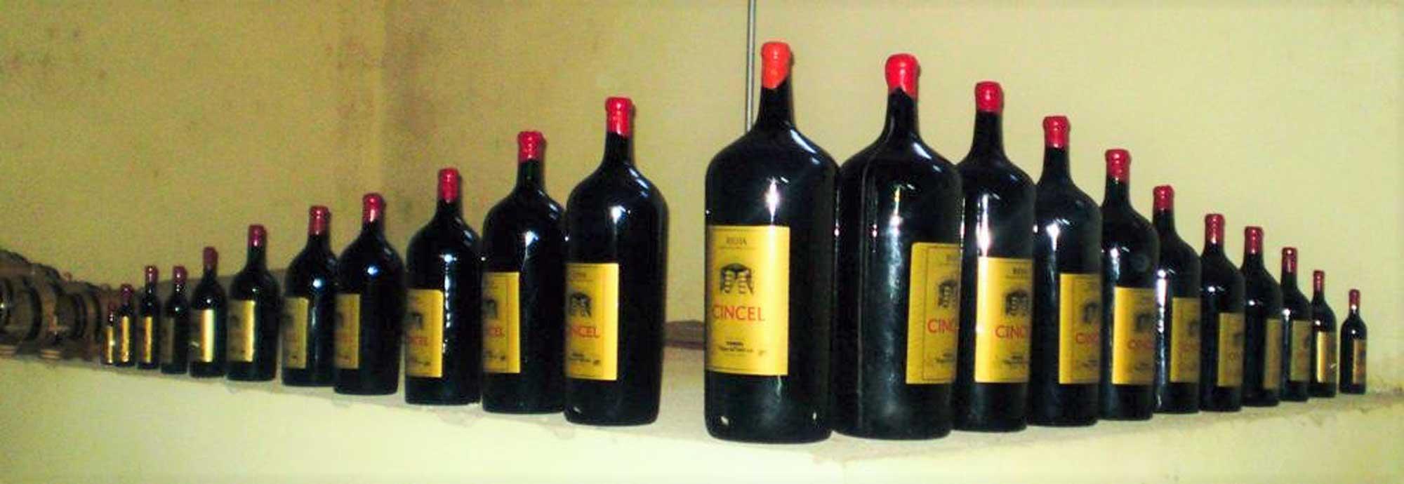 Colección botellas Cincel 2001