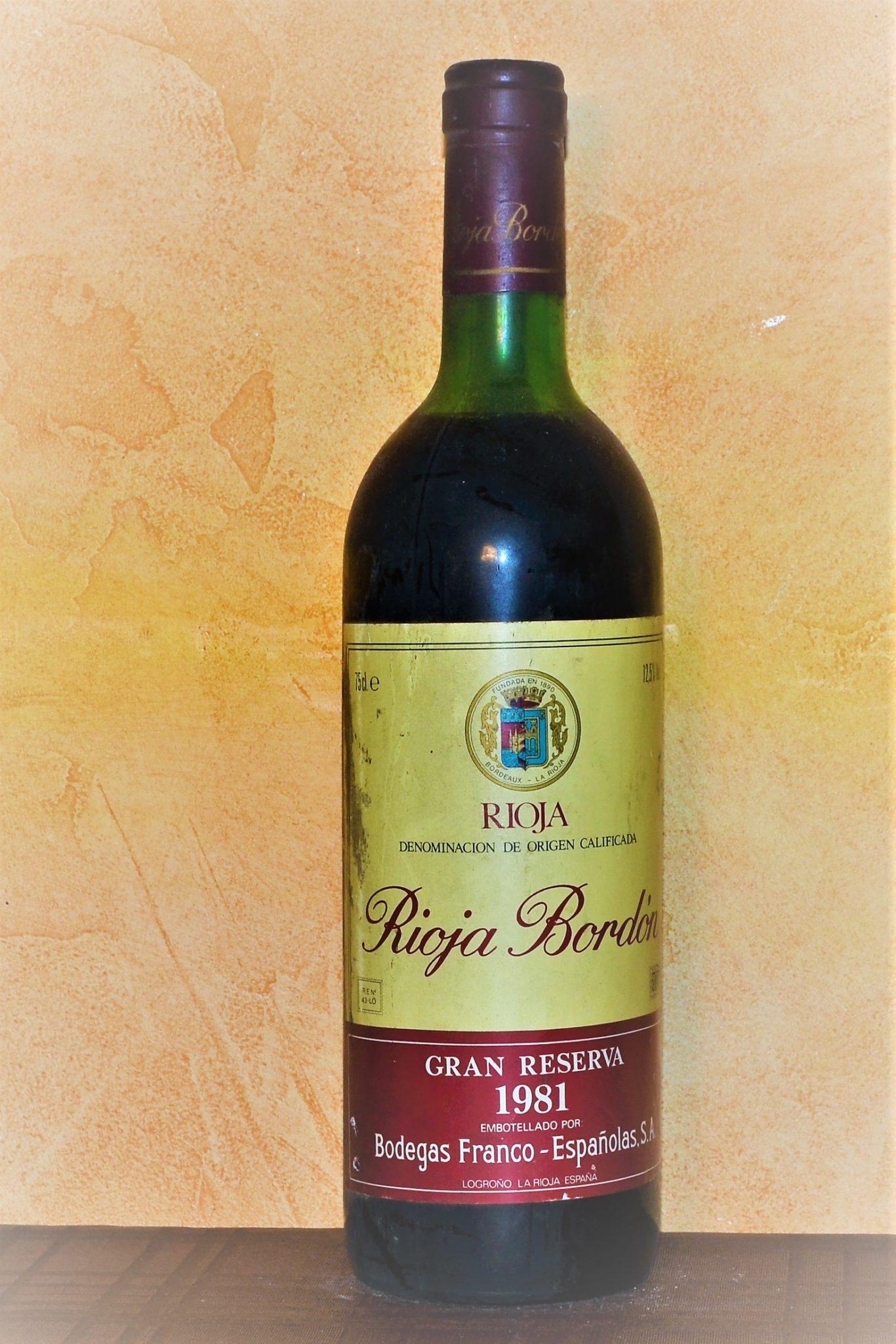 Rioja Bordón Gran Reserva 1981