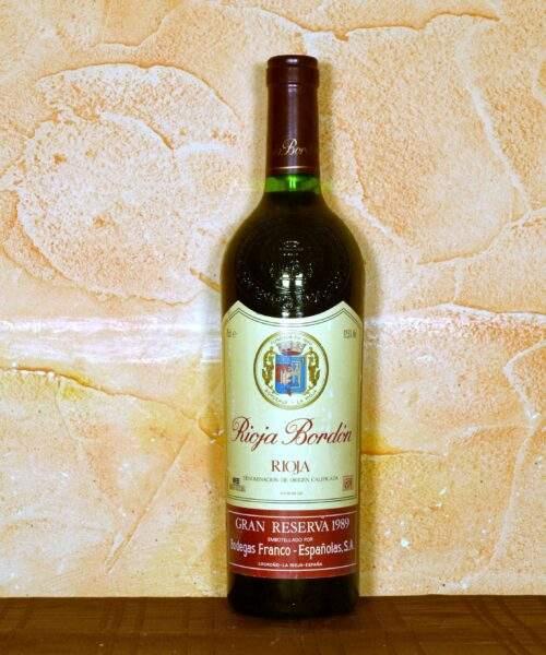 Rioja Bordon gran reserva 1989