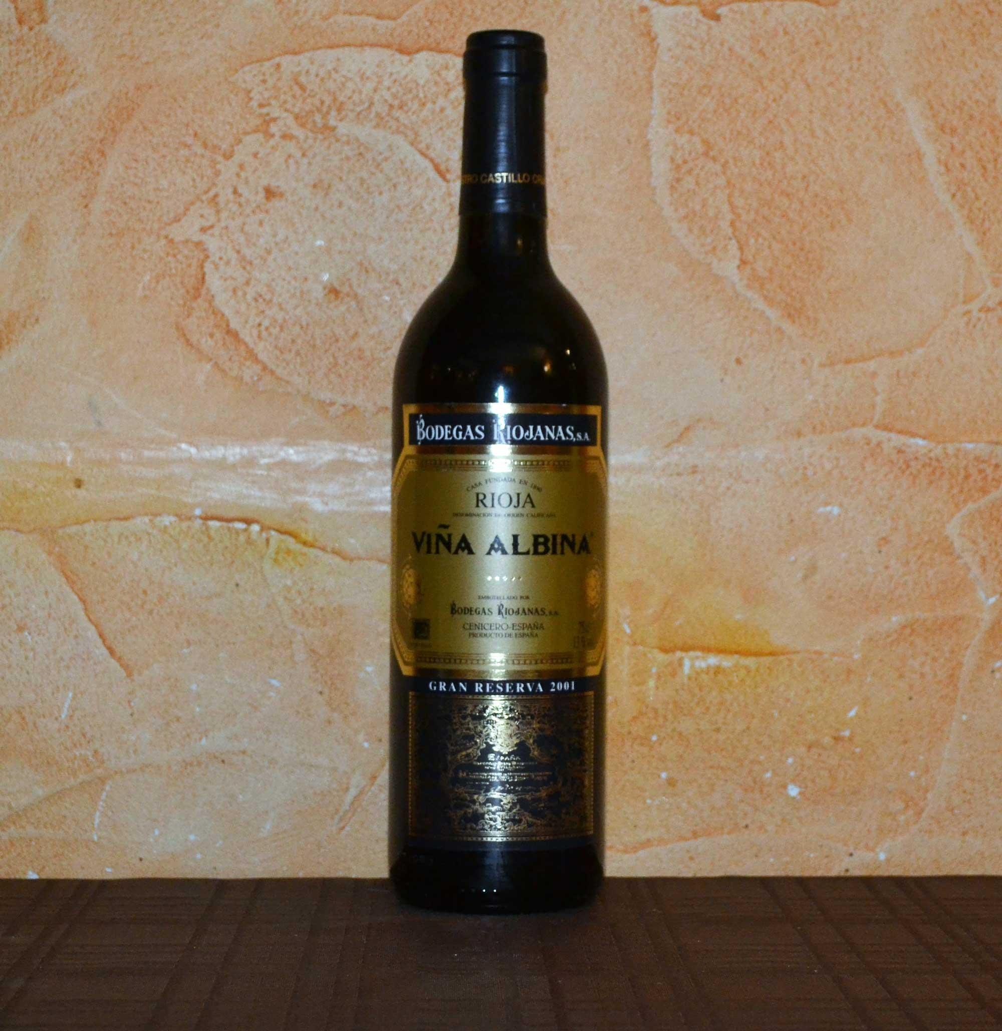 2001 Albina Gran Reserva Vineyard